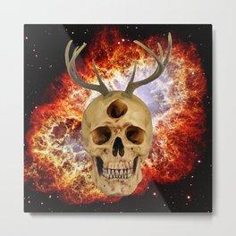 3rd Eye Contact (Antlers and Crab Nebula) Metal Print
