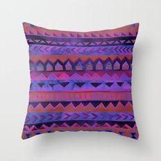 PATTERN {Tribal Stripe- Purple} Throw Pillow