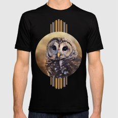 The Wise Owl MEDIUM Black Mens Fitted Tee