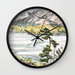 Franklin Carmichael - Lake La Cloche - Canada, Canadian Watercolor Painting - Group of Seven Wall Clock