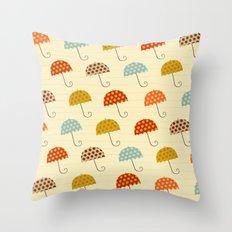 Colorful Umbrellas Throw Pillow