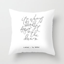 Before the Dawn. Throw Pillow