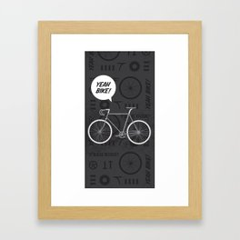 Yeah Bike! Framed Art Print
