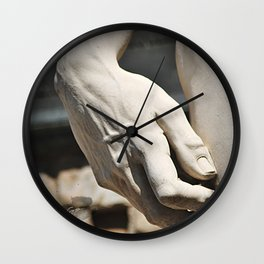 """The Hand of """"David di Michelangelo"""", Florence Tuscany Wall Clock"""