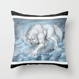 Snow Prowl Throw Pillow