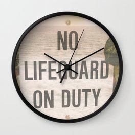 No Life Guard on Duity Wall Clock