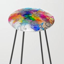 Color blobs by Nico Bielow Counter Stool