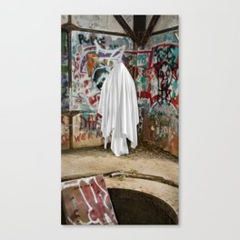 Graffiti Ghost Canvas Print