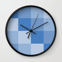 Four Shades of Blue Square Wall Clock
