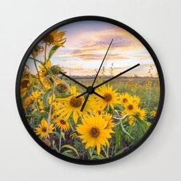 Sunflower sunrise Wall Clock