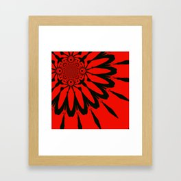 The Modern Flower Red & Black Framed Art Print