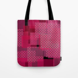 Pink Patchwork Tote Bag
