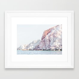 Milos Pink Cliffs Framed Art Print
