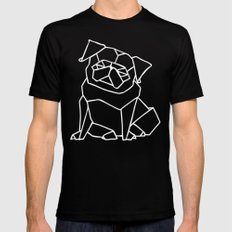 Origami Pug Black 2X-LARGE Mens Fitted Tee
