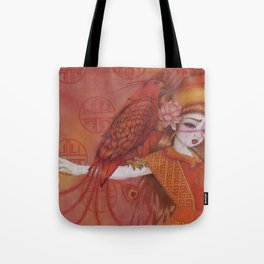Huo: Vermillion Bird Tote Bag