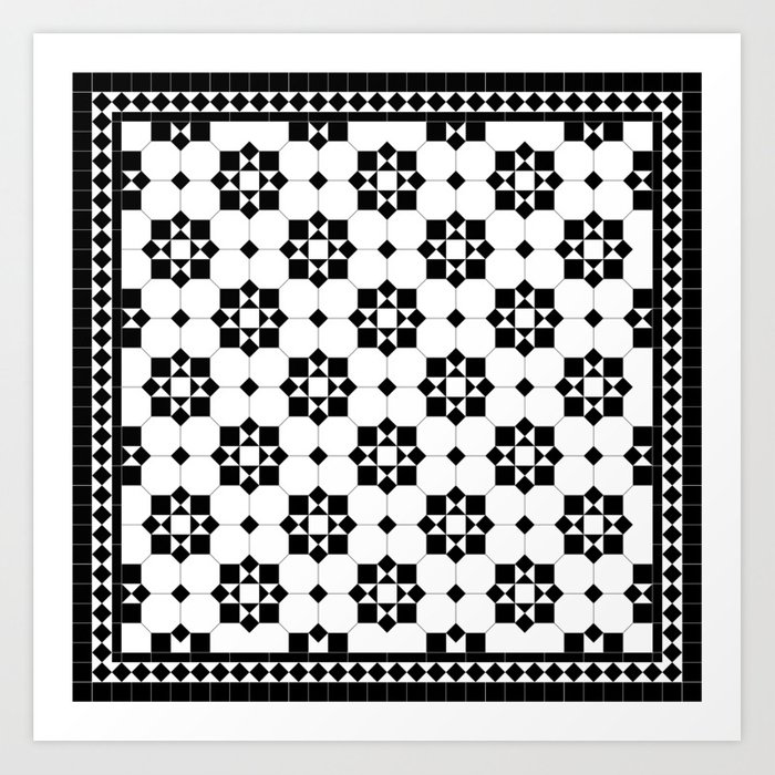 Victorian Floor Tile Pattern 3 Art Print By Garyandrewclarke Society6
