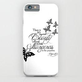 'Strange Skullerflies' -  Quotes - Edgar Allan Poe iPhone Case