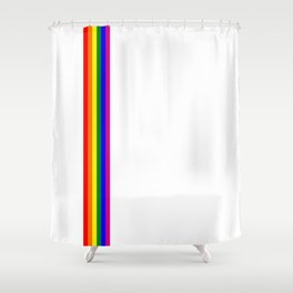 gay flag on white background Shower Curtain