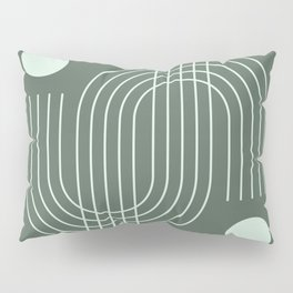 Geometric Lines in Sage Color Pillow Sham