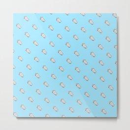 Blue Popcorn Pattern Metal Print