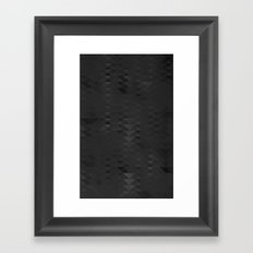 Black Triangules Framed Art Print