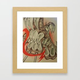 Red and Teeth Framed Art Print