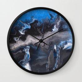 Blue Lightning Wall Clock