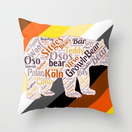 Gay bear art queer gift idea bear pride season  Throw Pillow