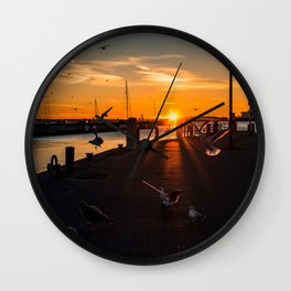 Harbor impressions in January Wall Clock