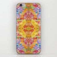 lsd iPhone & iPod Skins featuring LSD Flower by Zeus Design