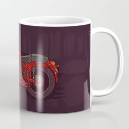 red vintage motorcycle Coffee Mug