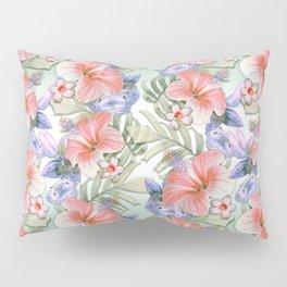 Hibiscus Aloha Stripe Pillow Sham