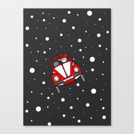 Santas Sleigh Is In The Shop Canvas Print