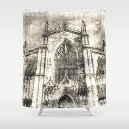 St Giles Cathedral Edinburgh Vintage Shower Curtain
