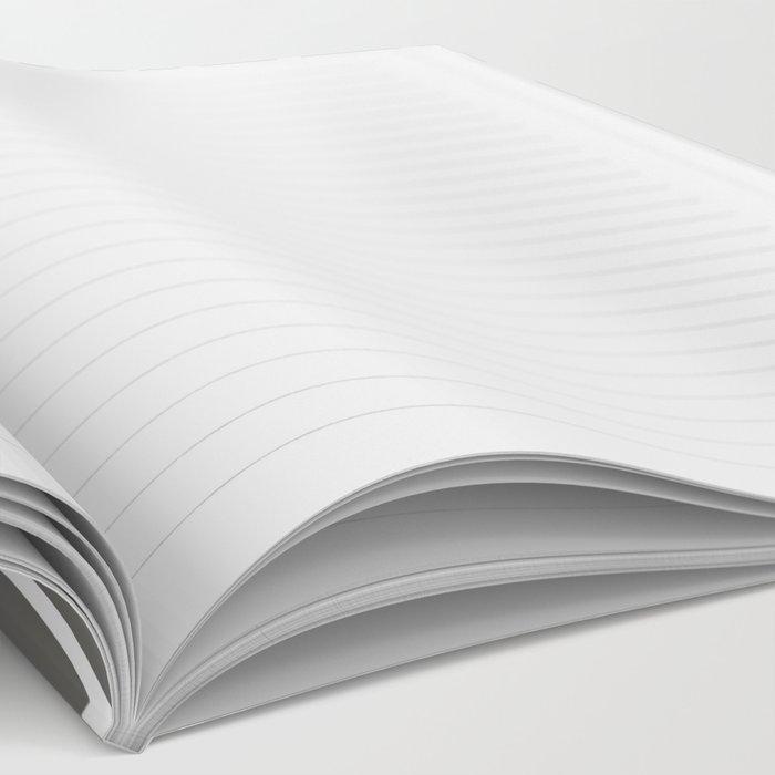 Safari Zebra Print - Grey & White Notebook