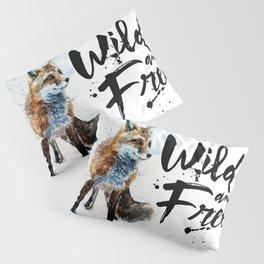 Fox wild & free watercolor painting Pillow Sham