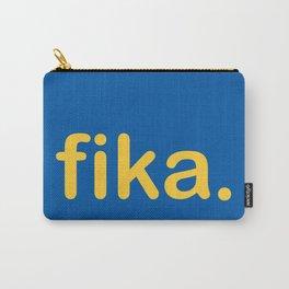 Fika Gul & Blå Carry-All Pouch