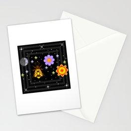moonbee flowersun Stationery Cards