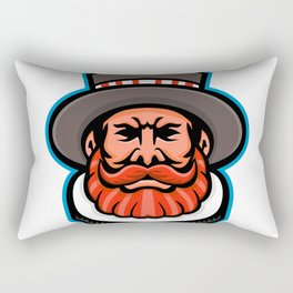 Beefeater or Yeoman Head Mascot Rectangular Pillow