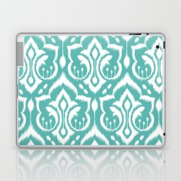 Ikat Damask Aqua Laptop & iPad Skin