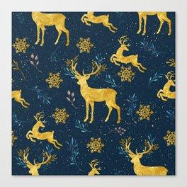 Golden Reindeer Canvas Print