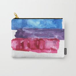 bisexual watercolor flag Carry-All Pouch