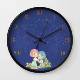 GEMINI my cute horoscope Wall Clock