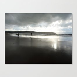 Last set of the day Canvas Print