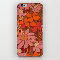 50s iPhone & iPod Skins featuring Crazy pinks 50s Flower  by Follow The White Rabbit