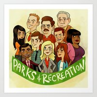 parks and recreation Art Prints featuring Parks and Recreation by Michael Ramstead