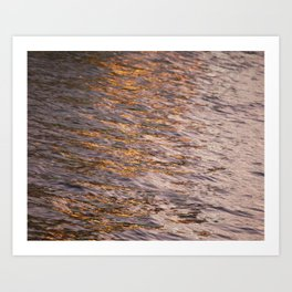 Abstract Lights on River Water in Japan 7 Art Print