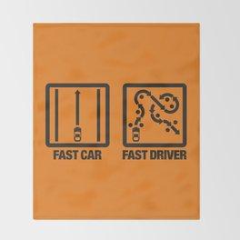 Fast Car - Fast Driver v2 HQvector Throw Blanket