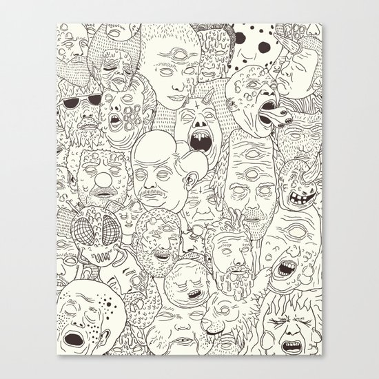Faces of Math (no color edition)  Canvas Print