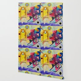 Kandinsky Yellow Red Blue Wallpaper